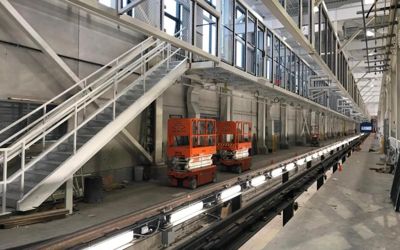A new roof and catwalk were installed at the Wellington Maintenance Facility